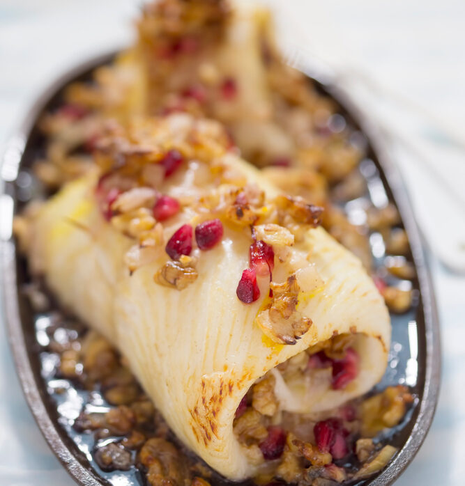 Fish roulades with American sauce